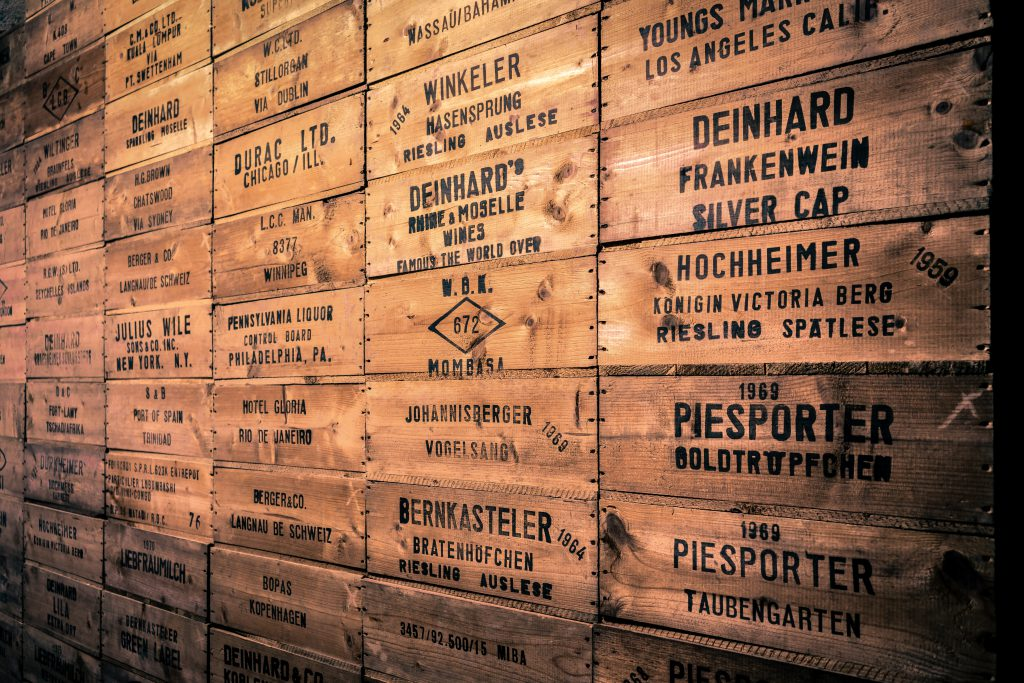 Die Exportwand im Museum