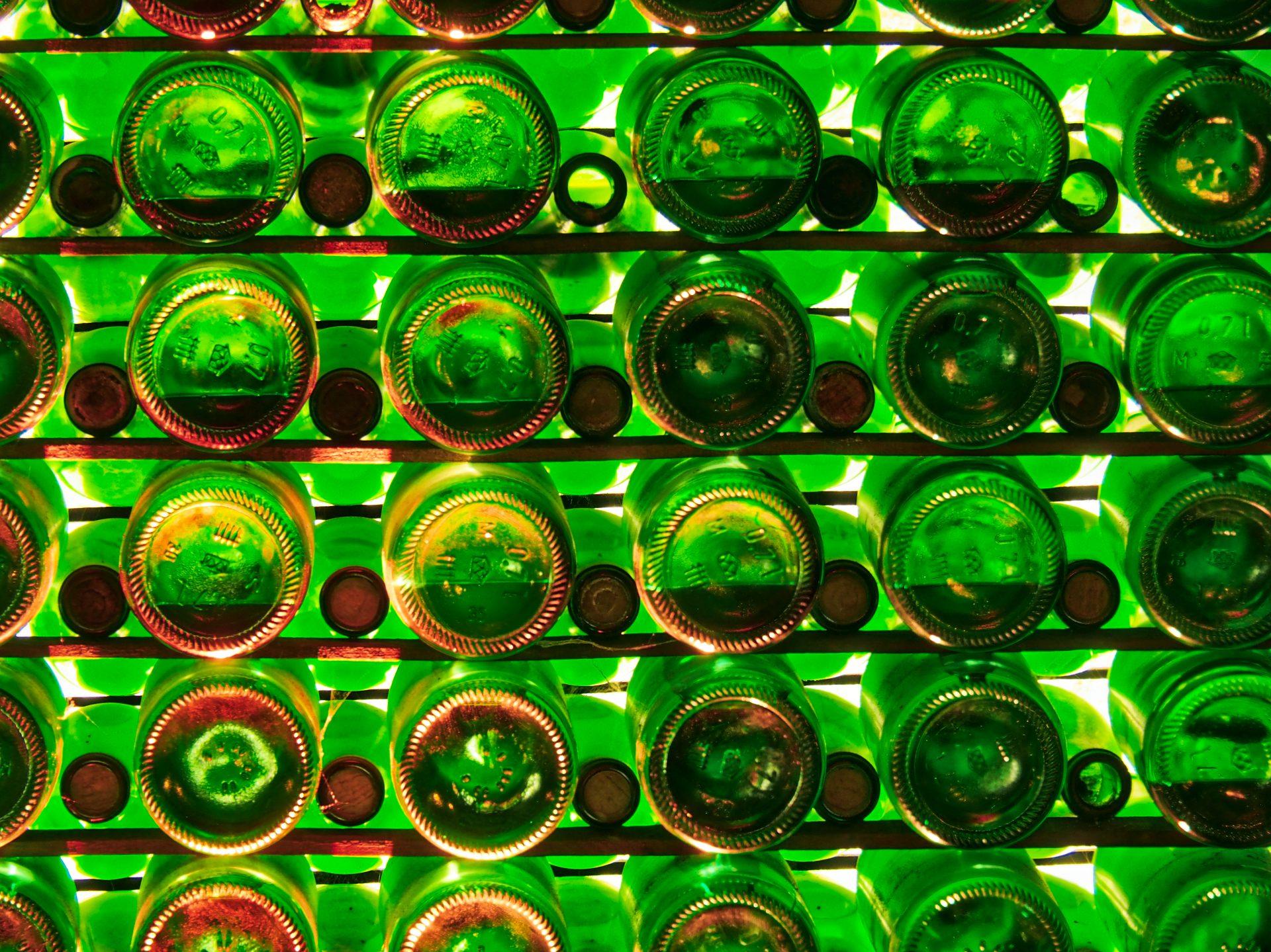 Flaschenwand